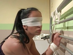 Riding crop slapping from sexy nurse tubes