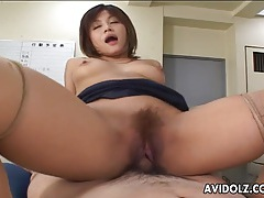 Glamorous japanese chick fucked hard from behind tubes