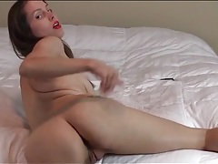 Lipstick and thong on ass shaking brunette girl tubes