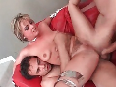 Cock hungry girl has double anal sex tubes