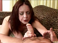 Face fucked skinny girl gags on his shaft tubes