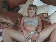 Big tits babe models cameltoe and masturbates tubes