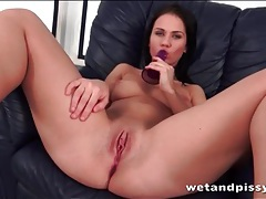 Great perky titties on a toy fucking brunette tubes