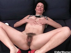 Older women soaking their cotton panties with pussy juice tubes