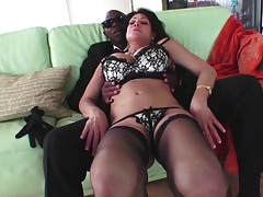 Milf slut teri weigel sucks his black cock tubes