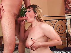 Cum hungry grannies feast on toy boy's cock tubes