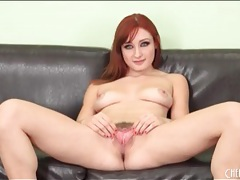 Cute young redhead finger fucks her hot pussy tubes