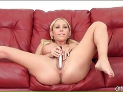 Big breasts blonde with sexy pigtails masturbates tubes