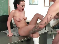 Katie st ives fucked like a slut in classroom tubes