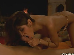 Beautiful erotic fellatio from indian milf tubes