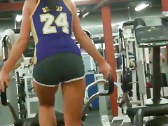 Tight ass girls on cardio machines at the gym tubes