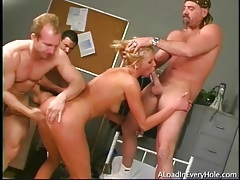 Blonde in gangbang wants cock in every hole tubes