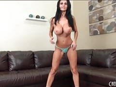 Big tits pornstar ava addams oils up her boobs tubes