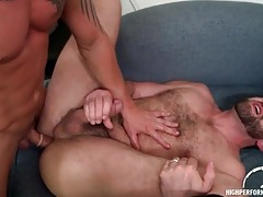 Bear rimmed lustily and fucked doggystyle tubes