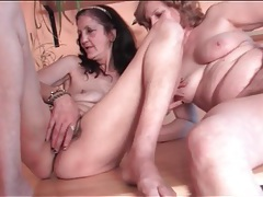 Wrinkled grandmas fondle each other lustily tubes