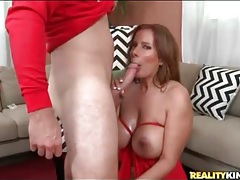 Milf bends over for him to fuck her doggystyle tubes