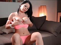 Girl gropes her big natural tits lustily tubes
