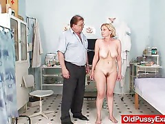 Unshaved twat mother tamara embarrassing doctor examination tubes