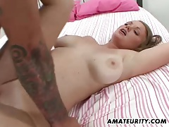 Busty amateur girlfriend action with cum in mouth tubes