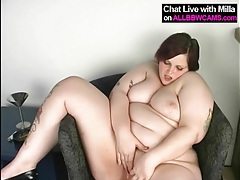 Tattooed fat girl in high heels masturbates tubes