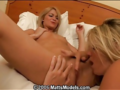 Young blondes in a moaning lesbian licking video tubes