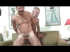 Grey daddy gets a blowjob and fucks ass tubes