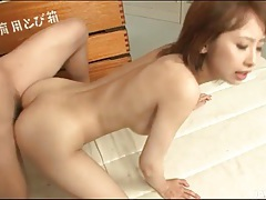 Dildo stimulation makes her japanese cunt wet tubes