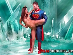 Guy in costumes fucks hot young brunette girl tubes
