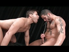 Sloppy wet gay blowjob and pissing porn tubes