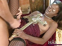 Harmony vision black slut takes on two white boys tubes