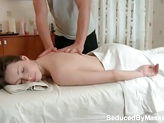 Teen with amazing bubble butt gets a massage tubes