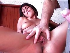 Close up on pussy fucking and fingering tubes