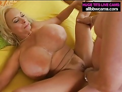 Basketball sized tits on blonde in fuck video tubes
