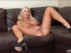 Lace teddy looks sexy on solo girl tasha reign tubes