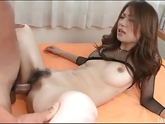 Satin maid outfit looks sexy on japanese girl tubes
