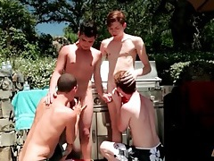 Outdoor foursome porn with cute kissing boys tubes