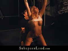 Haunting fantasy restrained slave girl for deep bdsm game tubes