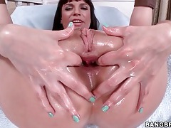 Dana dearmond anally fingering and toy fucking tubes