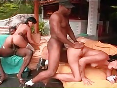 Black cocks fuck hot latina chicks outdoors tubes