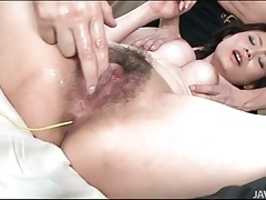 Clothed japanese girl gives a pov handjob tubes
