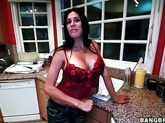 Big tits housewife strips and masturbates tubes