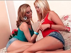 Anita dark and sandra shine kissing tubes