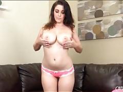 Pink bra and panties on beautiful curvy girl tubes