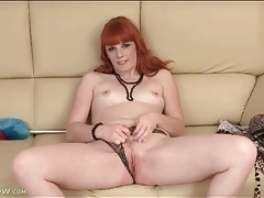 Yummy solo redhead finger bangs her vagina tubes