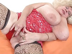 Fat titty grandma in sexy stockings tubes