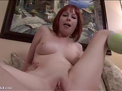 Fat dick fucks young redhead in bald vagina tubes