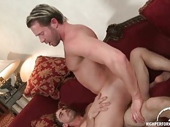 Thick man sits his tight asshole on a dick tubes