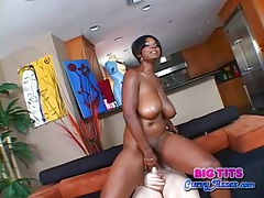 Curvy ebony girl is a cock riding hottie tubes