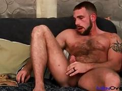 Very hairy bear masturbates his cock slowly tubes