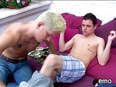 Two sexy boys kissing erotically outdoors tubes